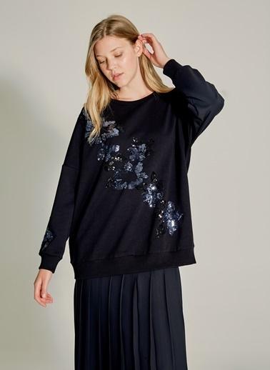 NGSTYLE Payet Nakışlı Sweatshirt Siyah